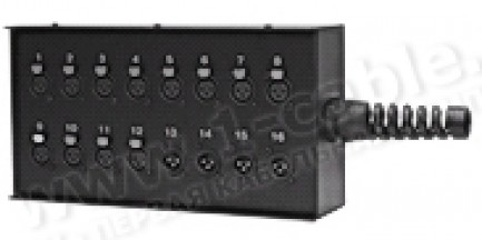 Фото2 1K-SB8/8-X. 16-кан.(8-IN/8-OUT) коммутационная коробка в сборе Stage Box (8x XLR3 гнездо, 8x XLR3 шт