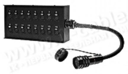 Фото2 1K-SBPW24/8TB-.. 32-кан.(24-IN/8-OUT) студийная мультикорная система Stage Box (24x XLR3 гнездо+ 8x