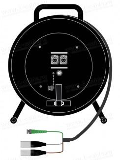 Фото1 1K-V1/A2RX-0.0 3-кан. аудио-видео кабельная система на катушке (1х BNC гнездо, 2x XLR3 гнездо) > кос