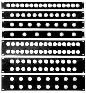 "Фото1 BP-XLR-0.. 19"" рэковая панель с пробивкой под XLR разъемы D, серия Basic"