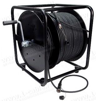 Фото1 CAM-P..0L. Камерная HD система на катушке, гибридный кабель камерного канала, SMPTE304M(Lemo) штекер