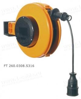 Фото2 FT 260.0.. Катушка с силовым кабелем H05VV-F с настенно-потолочным креплением, диам.- 260мм, 10А