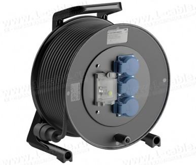 Фото1 GT 310.FI.MD3.. Силовой кабельный удлинитель на катушке: 3 SCHUKO 16A, автомат защитного отключения