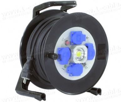 Фото1 GT 310.LED.MD4L..KS315 Силовой кабельный удлинитель на катушке: 4 SCHUKO 16A, автомат защитного откл