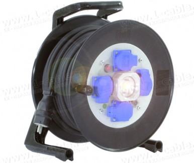 Фото2 GT 310.LED.MD4L..KS315 Силовой кабельный удлинитель на катушке: 4 SCHUKO 16A, автомат защитного откл