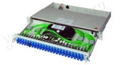 Фото1 H02030.000. Патч-панель 19'' с закрытым корпусом в сборе (сплайс кассета, адаптеры и пигтейлы), сери