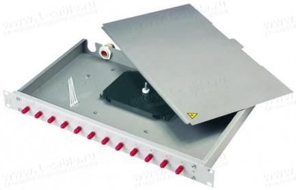 Фото1 H02030.9.. Патч-панель 19'' с закрытым корпусом, сплайс-кассетой, проходными адаптерами, серия BASIS