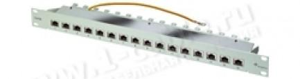 "Фото1 J02022A002. Патч-панель для установки в рэк 19"", 16 розеток RJ45, категория 5 (100 МГц)"