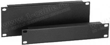 "Фото1 Mini-Blank-S-00. 10"" рэковая бланк-панель с ребром жесткости, сталь"