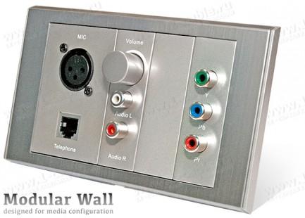 Фото1 MWP-0.-BG - Установочная рамка для модульной настенной комбинированной розетки, серия Modular Wall