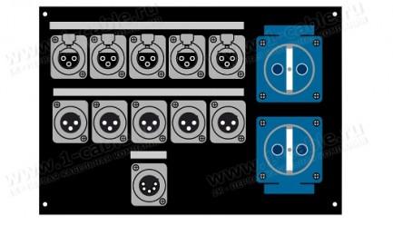 Фото1 PC283-1.-.SC/.X3F/.X3M/.X5F.. Панель для люка CAJA CIMA с установленными разъемами