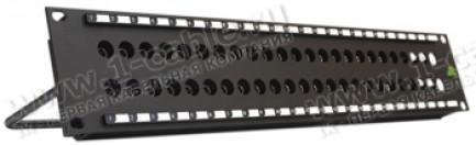 """Фото1 PT-1.. 19"""" патч-панель для аналоговых и цифровых SDI сигналов, тип MUSA, 2U"""