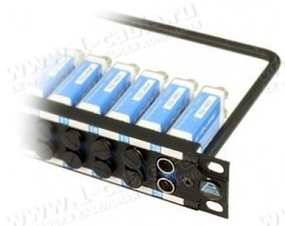 """Фото1 PT-1..0. 19"""" патч-панель для цифровых HD 3G-SDI сигналов, тип DVP с нормализацией, 1U"""