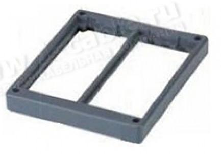 Фото1 SM202-.. - 2-х модульная рамка под розетки для напольного коммутационного люка