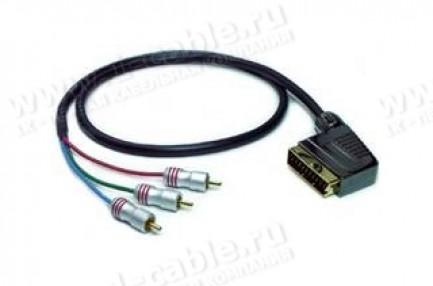 Фото4 1K-AV9-.. Кабель видео компонентный RGB, Hi-Fi, SCART штекер > 3х RCA штекер