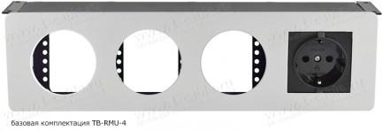 Фото2 TB-RM.-4 - Модульный блок для аудио-видео-мультимедиа розеток, серия Round Modular