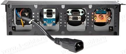 Фото5 TB-RM.-4 - Модульный блок для аудио-видео-мультимедиа розеток, серия Round Modular