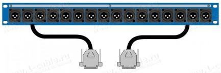 Фото1 TP-1U-A... Оконечная панель звуковых сигналов - XLR, D-посадка, с внутренней разводкой сигнала (D-SU