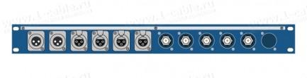 Фото1 TPC11-1U-5KF/.X3F/.. Оконечная панель комбинированная, 11 каналов, 1U