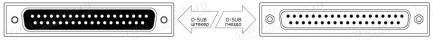 Фото4 1K-BIT10-37MF-1. Кабель для передачи данных, D-Sub 37-пин, штекер > гнездо
