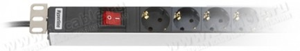 """Фото2 ACD-19-.. Блок розеток 19"""" с выключателем и световой индикацией"""