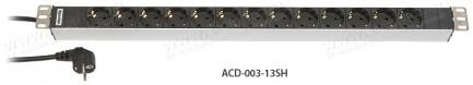 Фото1 ACD-003-1.SH Блок розеток для установки в рэк