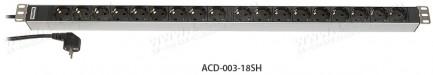 Фото2 ACD-003-1.SH Блок розеток для установки в рэк