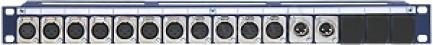 Фото1 TP13-1U-11X3F/2X3M - Оконечная панель звуковых сигналов, 13 каналов, 1U, серия PRO