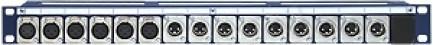 Фото1 TP15-1U-6X3F/9X3M - Оконечная панель звуковых сигналов, 15 каналов, 1U, серия PRO