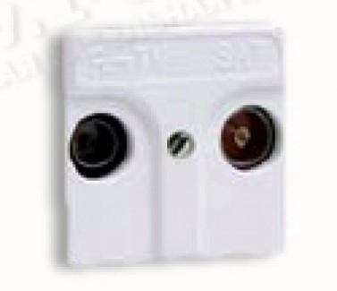 Фото1 75468-69 - Розетка TV-SAT (радио,ТВ + спутник) для напольного коммутационного люка