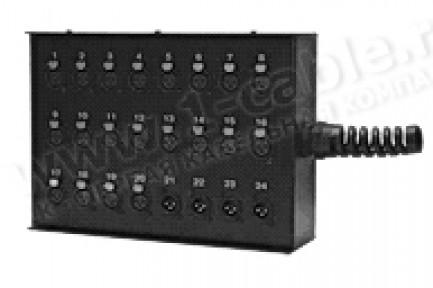 Фото2 1K-SB24/0-XP - 24-кан.(24-IN) коммутационная коробка в сборе Stage Box (24x XLR3 гнездо)