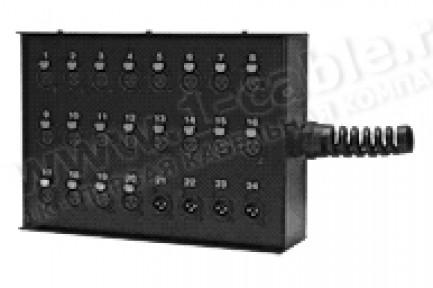 Фото2 1K-SB0/32-XP - 32-кан.(32-OUT) коммутационная коробка в сборе Stage Box (32x XLR3 штекер)