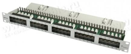 """Фото1 J02024C0002 - Патч-панель ISDN/ телефонная для установки в рэк 19"""", 50 розеток RJ45, Cat.3"""