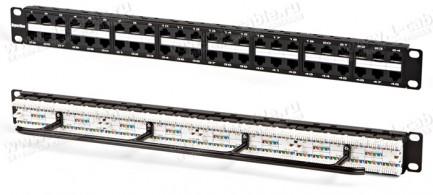 """Фото1 PPHD-1U-48-C5e-110D - Патч-панель для установки в рэк 19"""", высокой плотности установки разъемов, неэ"""