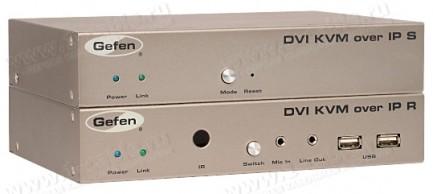 Фото1 EXT-DVIKVM-LAN.. Удлинитель линий DVI, USB, RS-232, аналогового аудио сигнала и ИК сигналов по сети