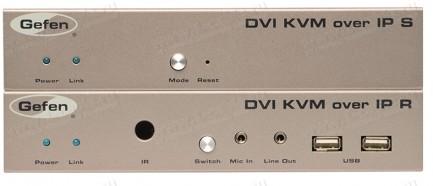Фото2 EXT-DVIKVM-LAN.. Удлинитель линий DVI, USB, RS-232, аналогового аудио сигнала и ИК сигналов по сети