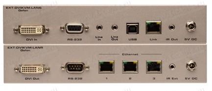 Фото3 EXT-DVIKVM-LAN.. Удлинитель линий DVI, USB, RS-232, аналогового аудио сигнала и ИК сигналов по сети