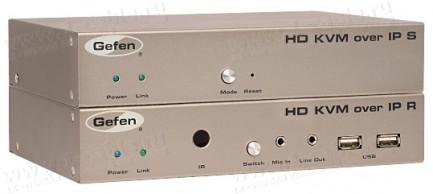Фото1 EXT-HDKVM-LAN.. Удлинитель HDMI, USB, RS-232, ИК, двунаправленного аудио по кабелю витая пара (5e/6