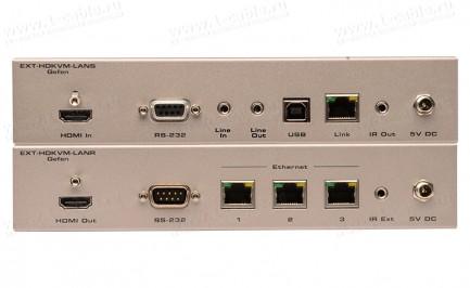 Фото3 EXT-HDKVM-LAN.. Удлинитель HDMI, USB, RS-232, ИК, двунаправленного аудио по кабелю витая пара (5e/6