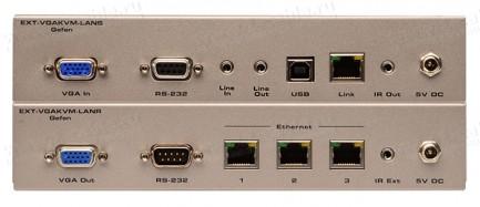 Фото3 EXT-VGAKVM-LAN.. Удлинитель VGA, USB, RS-232, ИК, двунаправленного аудио по кабелю витая пара (5e/6