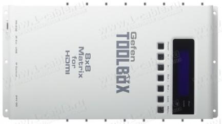 Фото1 GTB-HDFST-848.. Видео коммутатор сигналов матричный HDMI (версия 1.3) 8х8 с поддержкой 3DTV, ИК пуль