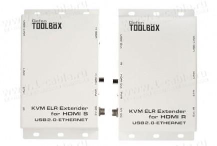 Фото1 GTB-HDKVM-ELR.. Удлинитель HDMI, USB, Ethernet и ИК по двум кабелям витая пара на длины до 100 м, с