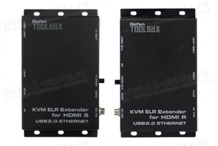 Фото2 GTB-HDKVM-ELR.. Удлинитель HDMI, USB, Ethernet и ИК по двум кабелям витая пара на длины до 100 м, с