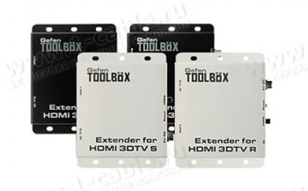 Фото1 GTB-HDMI-3DTV.. Удлинитель линий HDMI 1.4 по одному кабелю витая пара (5 Cat) на 100 м с передачей И