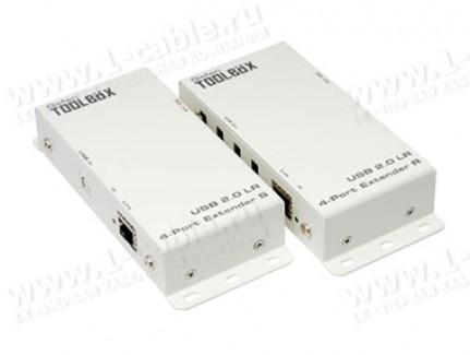 Фото1 GTB-USB2.0-4LR.. Удлинитель высокоскоростных линий USB (до 480 Мгб/сек) по одной витой паре (5 Cat)