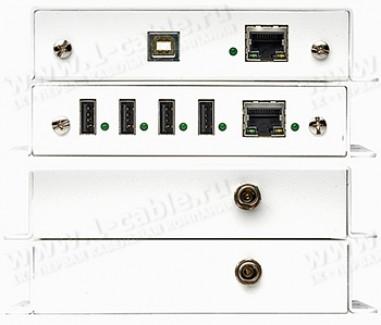 Фото3 GTB-USB2.0-4LR.. Удлинитель высокоскоростных линий USB (до 480 Мгб/сек) по одной витой паре (5 Cat)