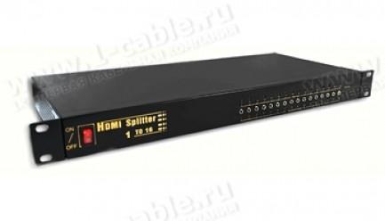 Фото1 HIT-HDMI1..-1416. Распределитель сигналов HDMI 1:16, 1 вход > 16 выходов, дистанционное управление И