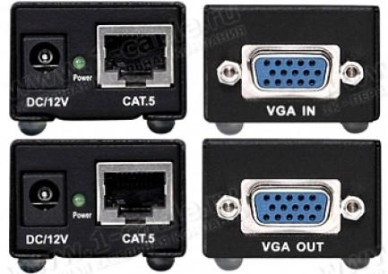 Фото2 HIT-VGA-CAT5-100S - Удлинитель линий VGA по одной витой паре (5 Cat) на 80 м