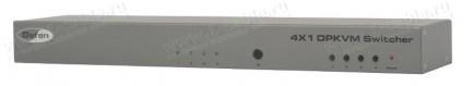 Фото1 EXT-DPKVM-441 - Коммутатор 4x1 сигналов DisplayPort + USB 2.0 + Аудио, управление RS232, ИК пульт