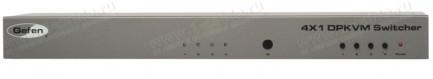 Фото2 EXT-DPKVM-441 - Коммутатор 4x1 сигналов DisplayPort + USB 2.0 + Аудио, управление RS232, ИК пульт
